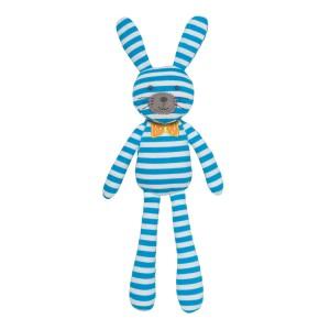 Organic Farm Bunny - Blue Stripes