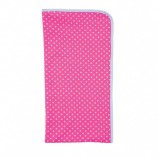 farm girl blanket - with pink polka dots