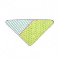 green tear drops bandana bib