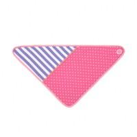 pink polka dots bandana bib