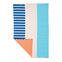 Farm Boy Burp Cloth - with gray and blue stripes