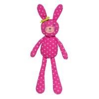 Organic Farm Bunny - Pink Polka Dot