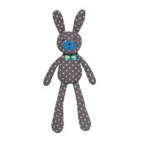Organic Farm Bunny - Gray Polka Dot