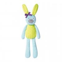 "Organic Farm Bunny - 18"" farm bunny turquoise"