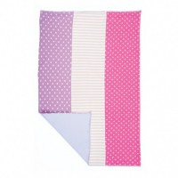 farm girl burp cloth - with polka dots and stripes