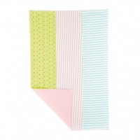 Farm Girl Burp Cloth - with stripes and green tear drops