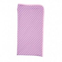 farm girl blanket - with purple polka dots