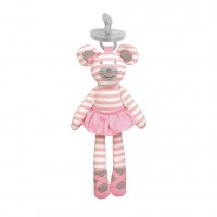 Organic Pacifier Buddies - Ballerina Mouse