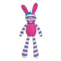 Organic Farm Bunny - Purple Stripe & Pink Polka Dot