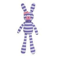 Organic Farm Bunny - Purple Stripe