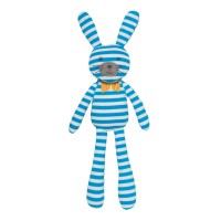 Organic Farm Bunny - Blue Stripes