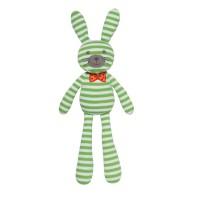 Organic Farm Bunny - Green Stripes